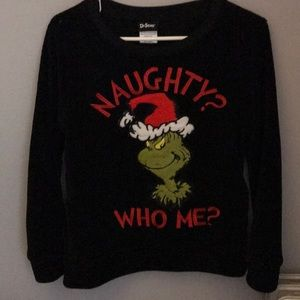 The Grinch Fleece PJ Top